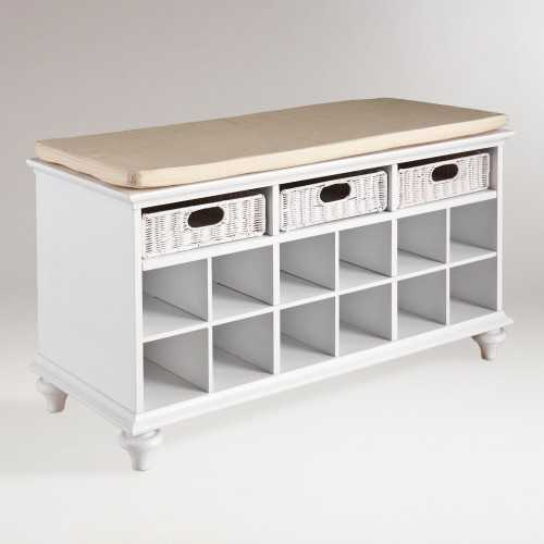 White Oakdale Shoe Bench - World Market, Top 30 Organization Products