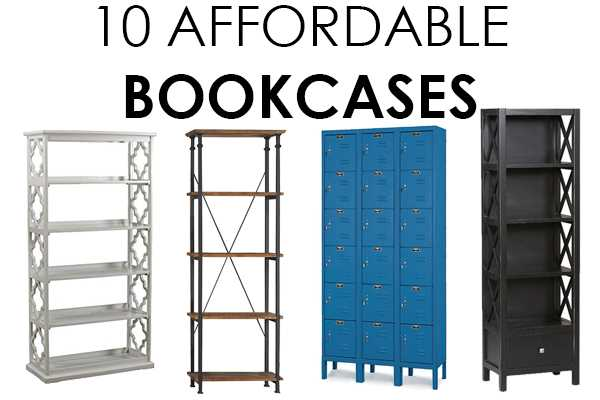Look no further! These are THE BEST affordable bookcases with that great designer look you've been looking for! The bookcases are perfect for a small home office or for extra stylish storage in your living room. Check it out on A Blissful Nest! http://ablissfulnest.com/ #designtips #libraryideas #homeoffice #officeideas #homedecor #homedecorating #interiordesigntips #bookcases