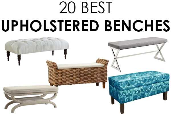 This list is AMAZING. 20 fabulous upholstered benches to choose from by A Blissful Nest. #upholsteredbench #benches #bedroomideas #masterbedroom #designtips #homedecorideas https://ablissfulnest.com/