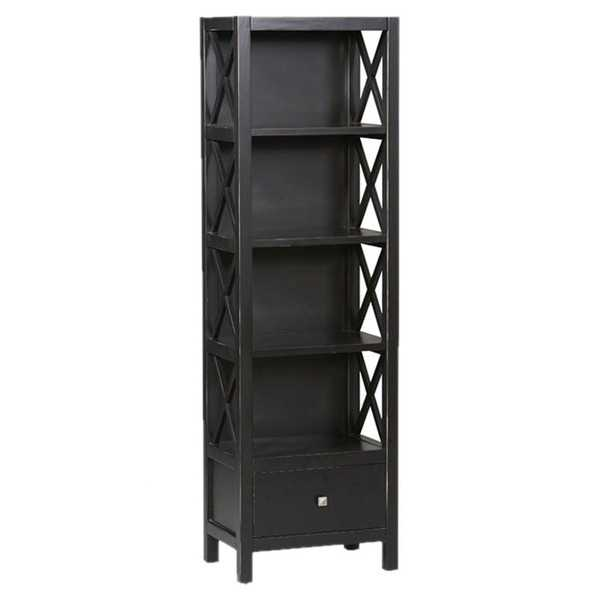 Look no further! These are THE BEST affordable bookcases with that great designer look you've been looking for! The bookcases are perfect for a small home office or for extra stylish storage in your living room. Check it out on A Blissful Nest! https://ablissfulnest.com/ #designtips #libraryideas #homeoffice #officeideas #homedecor #homedecorating #interiordesigntips #bookcases