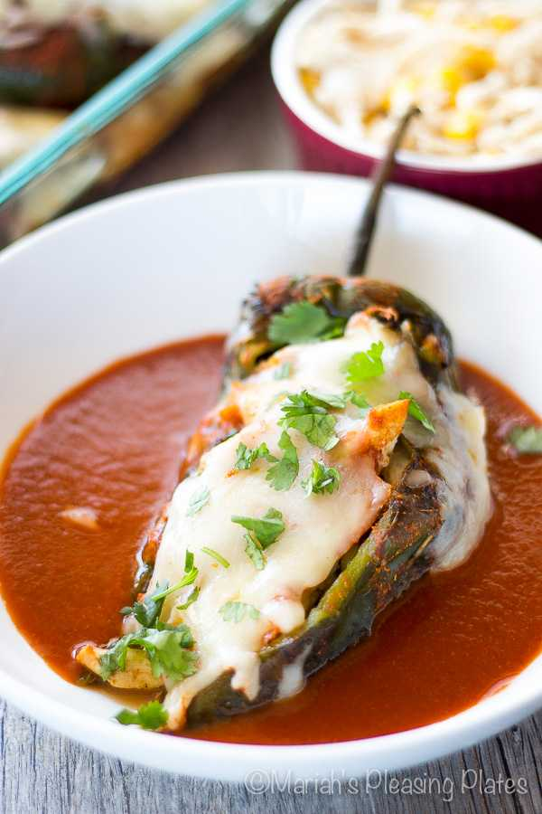 Chicken Enchilada Stuffed Chilies, Cinco De Mayo Food and Drink Ideas