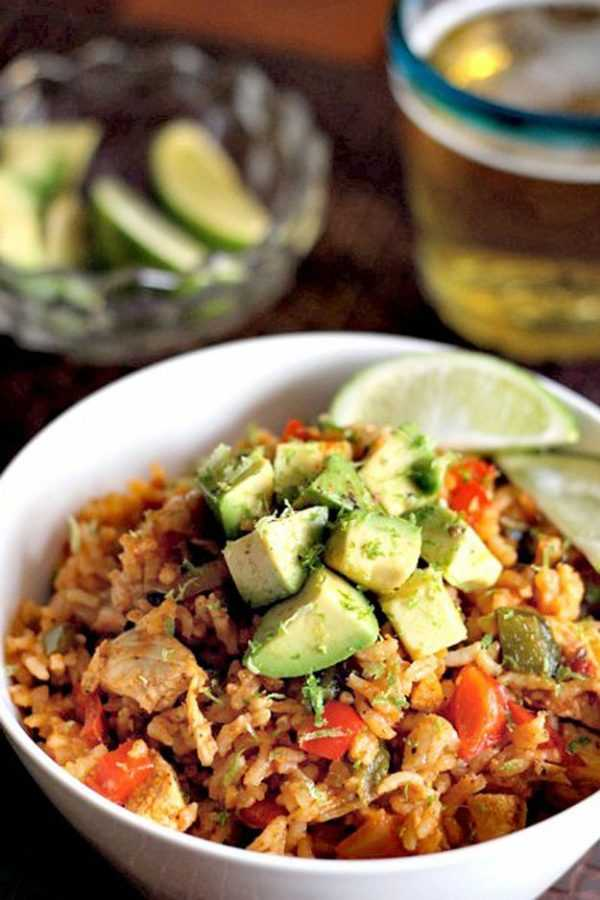 Chicken Fajita Rice, Cinco De Mayo Food and Drink Ideas