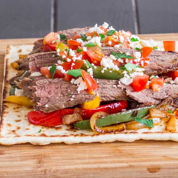 Flank Steak Tostadas, Cinfo De Mayo Food and Drinks
