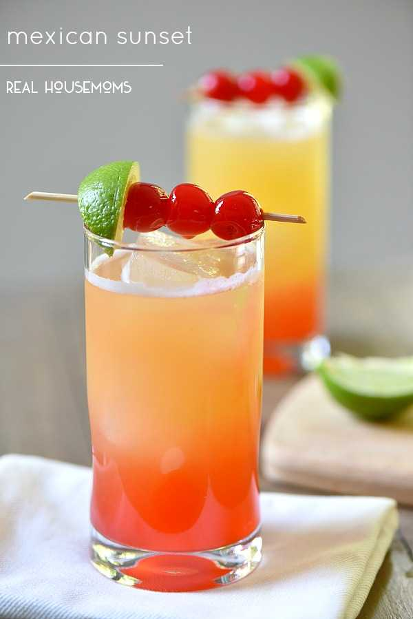 Mexican Sunset Drink, Cinco De Mayo Food and Drink Ideas