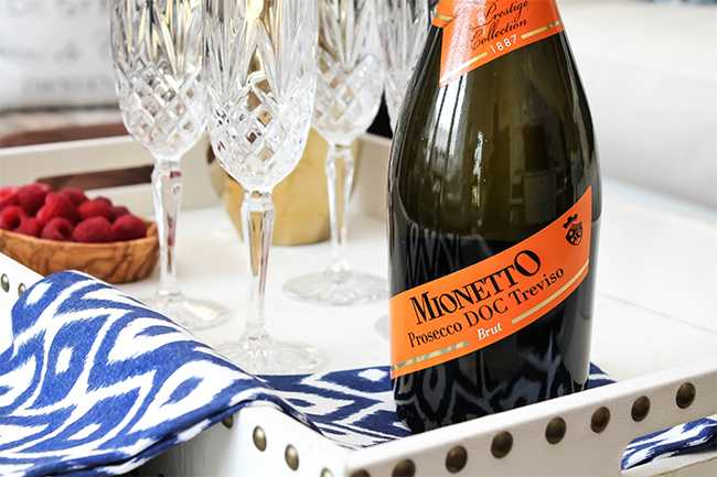 Such a delicious Prosecco for your next party! Mionetto Prosecco is our go to beverage for entertaining guests!