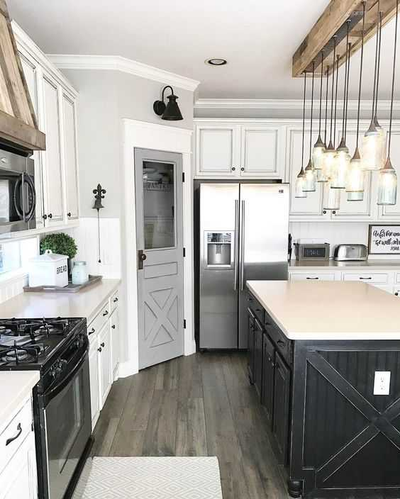 Living Room And Kitchen Stage By Synergy Staging: Farmhouse Kitchen Ideas For Fixer Upper Style + Industrial
