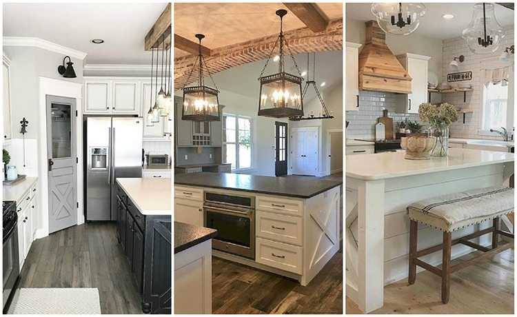 20 farmhouse kitchen ideas for fixer upper style for Industrial farmhouse plans