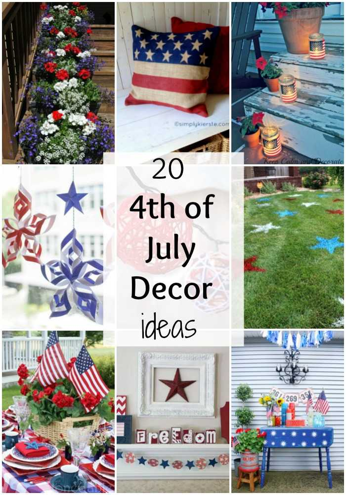20 4th of July Decor Ideas via A Blissful Nest