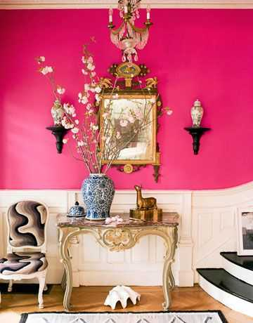 Do you love hot pink but don't know how to add it into your home decor? We've got design tips just for you on hot to use hot pink in your home and paint colors to choose from. Check out A Blissful Nest for more details. https://ablissfulnest.com/ #designtips #interiordesign #pinkroom #paintcolor