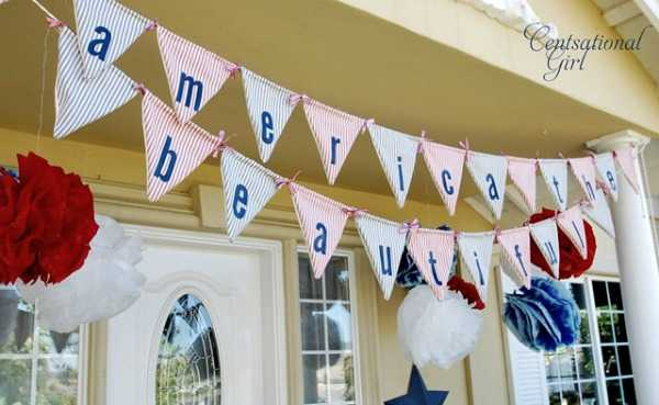 America the Beautiful Banner, Best 4th of July Decor Ideas via A Blissful Nest