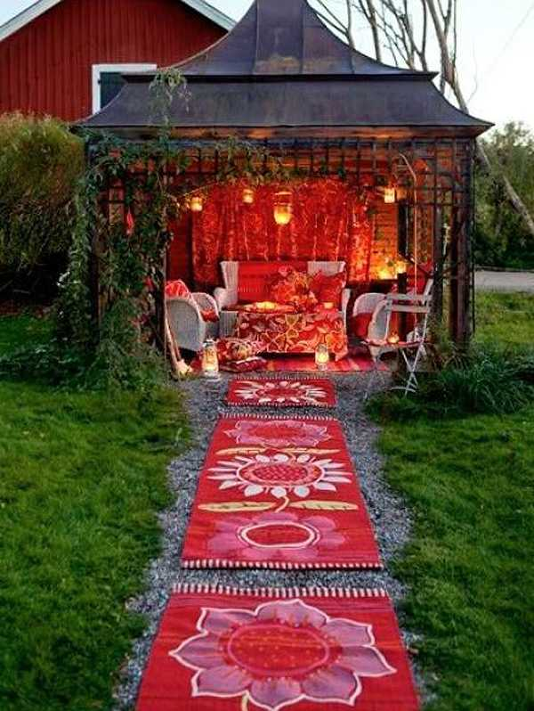 Boho Outdoor She Shed via Good to Grow, The Best She Sheds