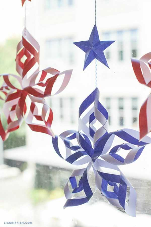 DIY Paper Stars, Best 4th of July Decor Ideas via A Blissful Nest