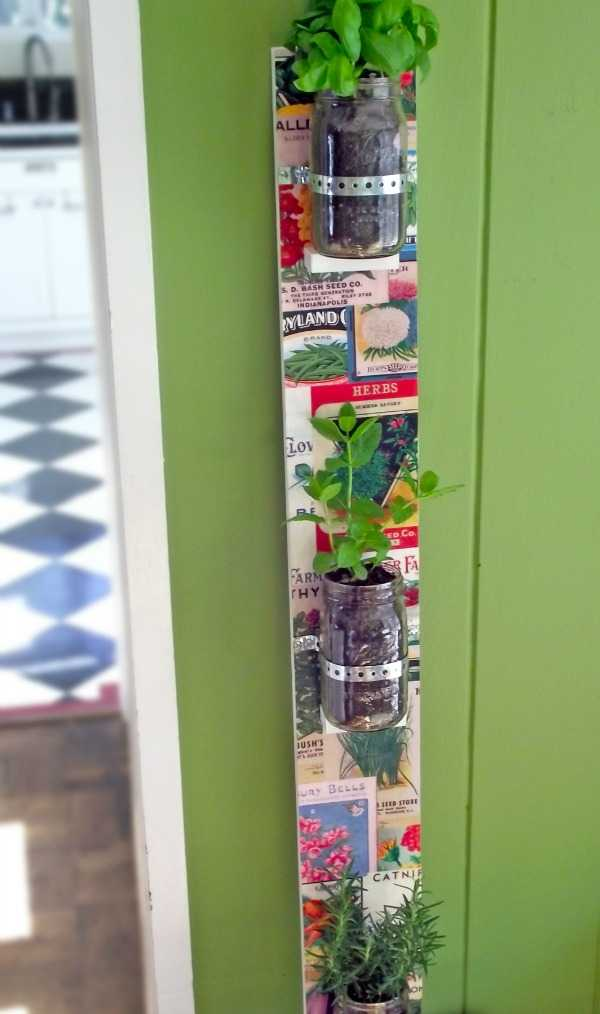 Hanging Herb Garden with Mason Jars, 20 Ways to Use Mason Jars