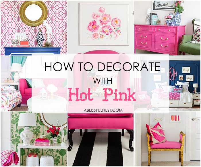 Decorate With Hot Pink In Your Home