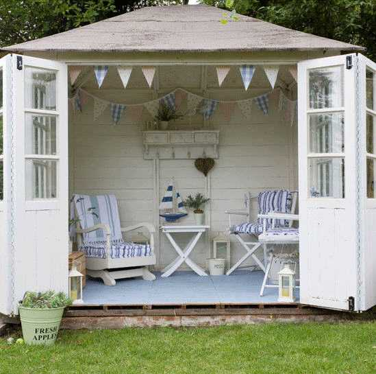 Seaside Garden Room via House to Home, The Best She Sheds