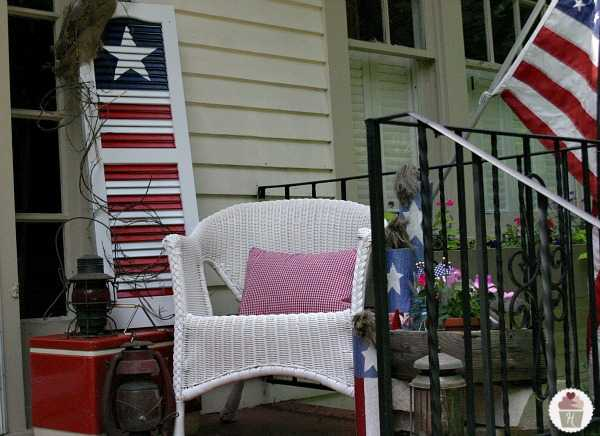 Shutter American Flag, Best 4th of July Decor Ideas via A Blissful Nest