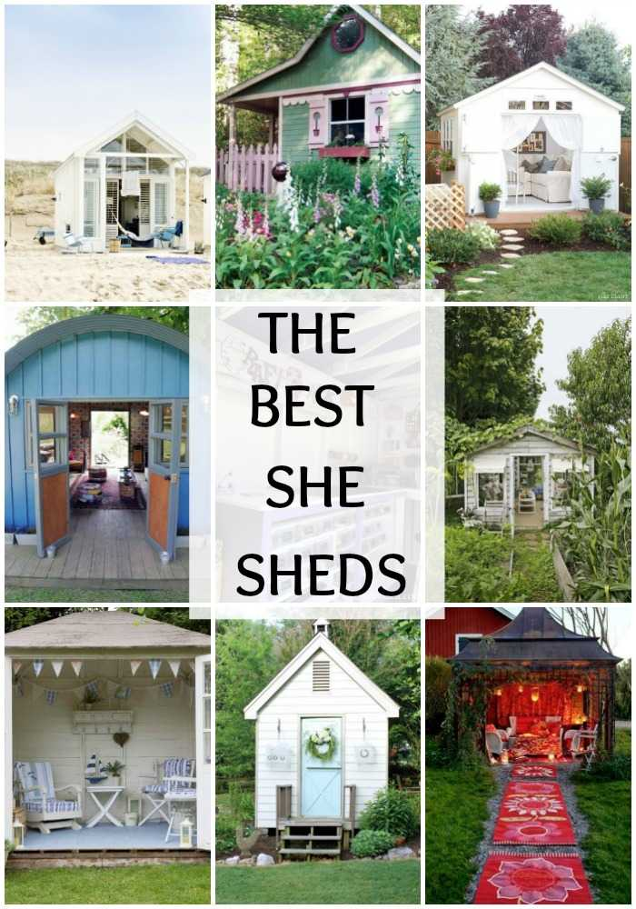 The Best She Sheds via A Blissful Nest