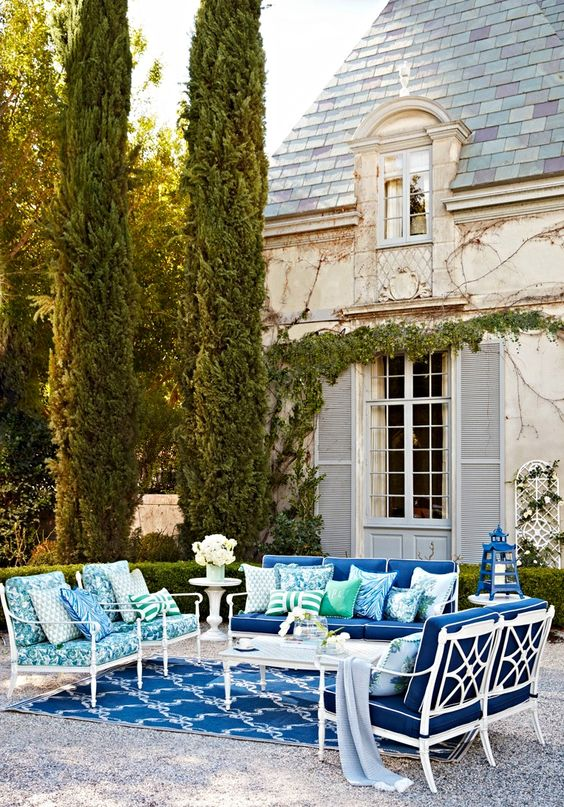 Frontgate. 20 Best Patio Spaces via A Blissful Nest