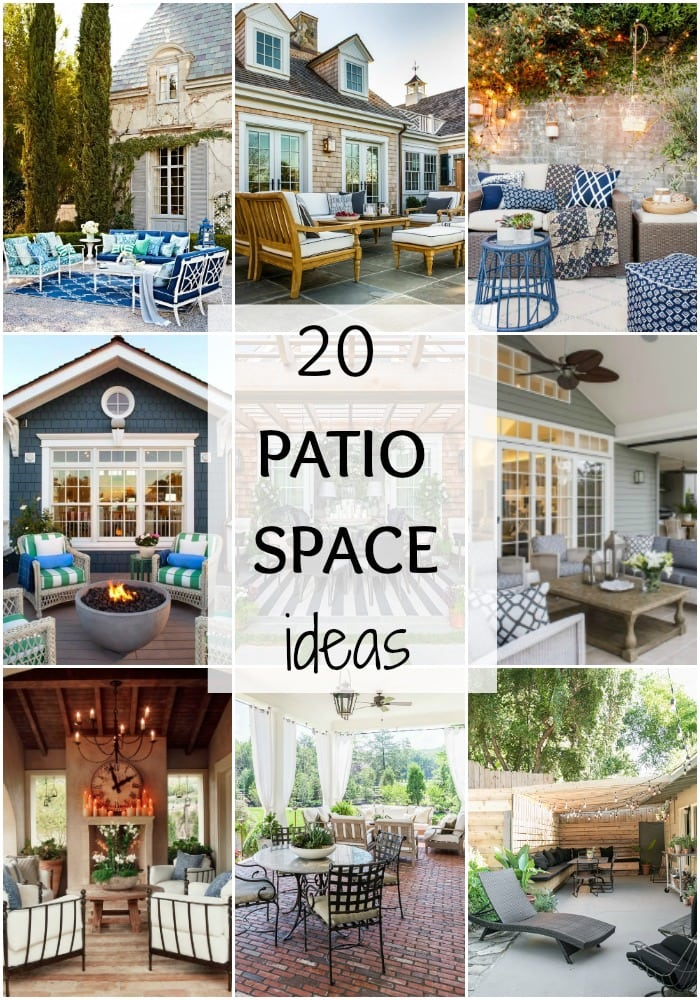 20 Patio Space Ideas via A Blissful Nest