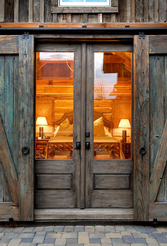 Sliding barn door ideas to get the fixer upper look for French main door designs