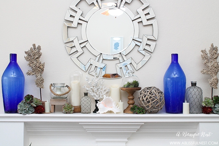 Coastal Mantle Decor With Holiday Warehouse