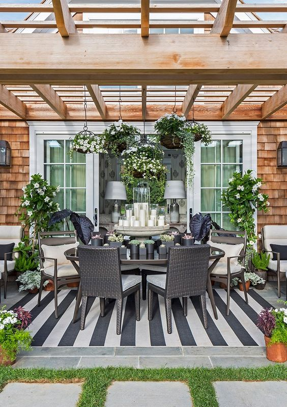 Hamptons, 20 Best Patio Spaces via A Blissful Nest