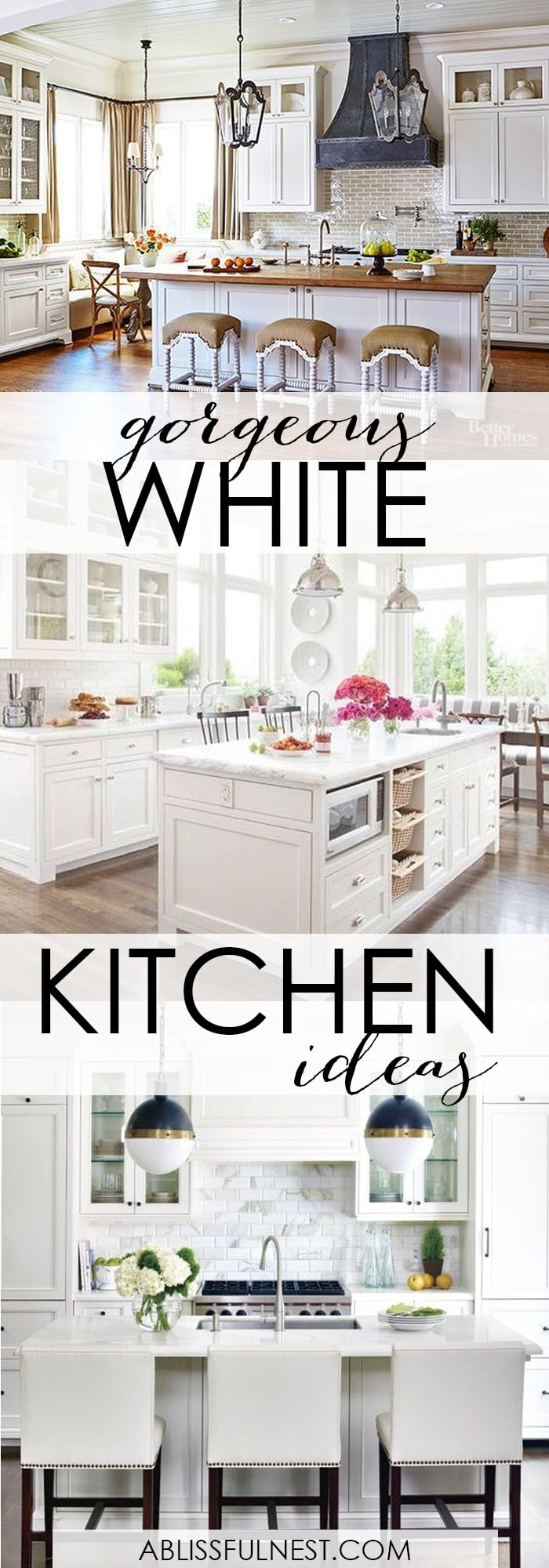 Gorgeous white kitchen ideas modern farmhouse coastal All white kitchen ideas