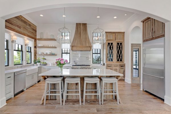 Farmhouse Kitchen Design Ideas white kitchen with gray island paint color the white kitchen cabinet paint color is called These Gorgeous White Kitchen Ideas Range From Modern To Farmhouse And All In Between Get