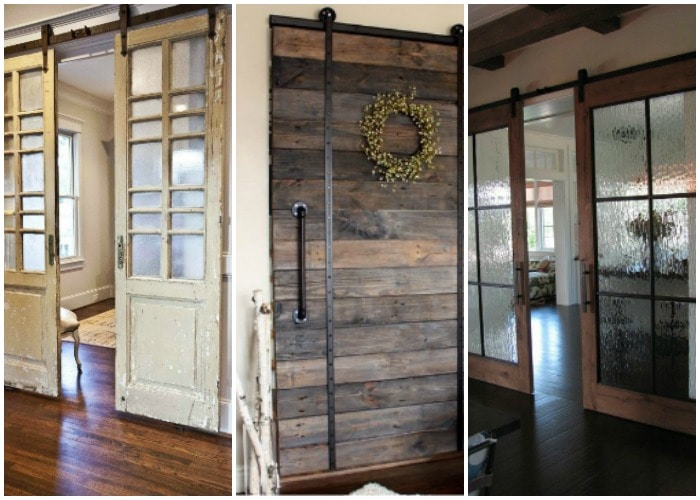 sliding barn door ideas to get the fixer upper look. Black Bedroom Furniture Sets. Home Design Ideas