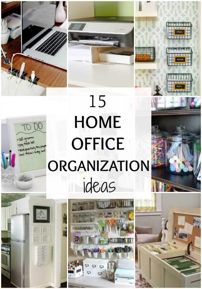 15 ways to organize your home office by a blissful nest. Black Bedroom Furniture Sets. Home Design Ideas