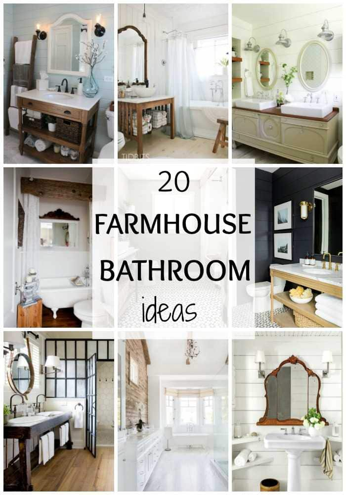 Love Farmhouse Style From Fixer Upper?! Take A Look At These 20 Gorgeous  Farmhouse Save. 20 Best Farmhouse Bathrooms: