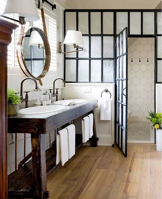 Savor Home 20 Best Farmhouse Bathrooms Farmhose Farmhousedecor Farmhousestyle Bathroom