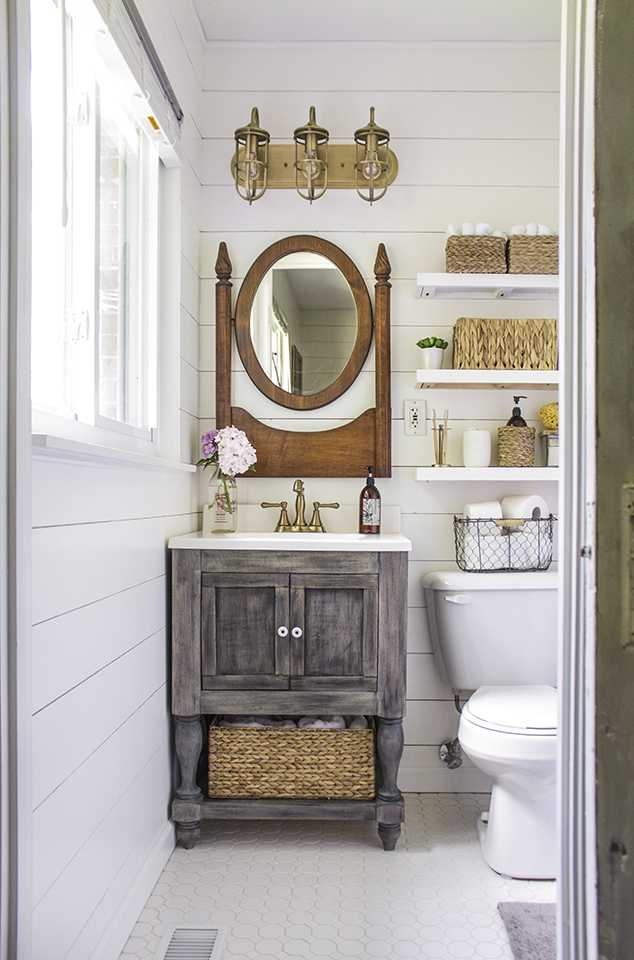 Great Shades of Blue Interiors Best Farmhouse Bathrooms