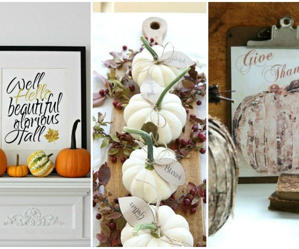 Free Fall Printables To Decorate With This Season