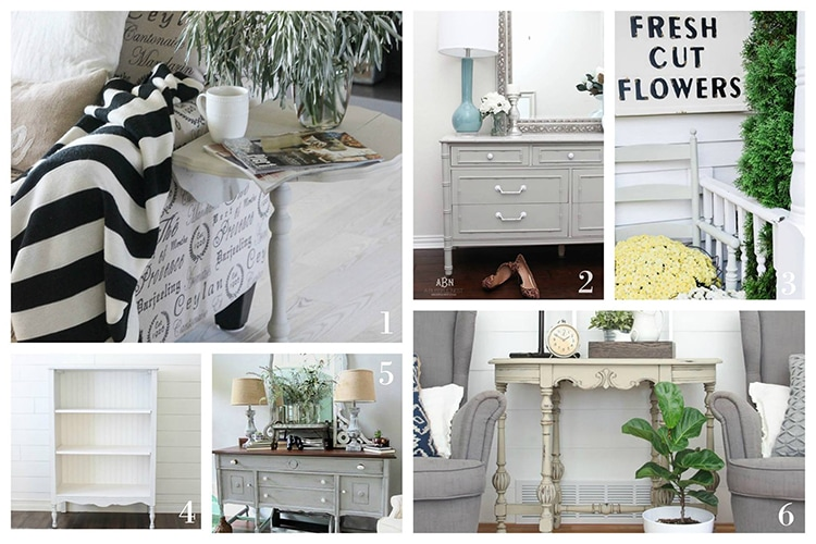 Check out these amazing chalk furniture paint makeovers by some amazing bloggers! Love these tutorials on a easy diy for your flea market finds!