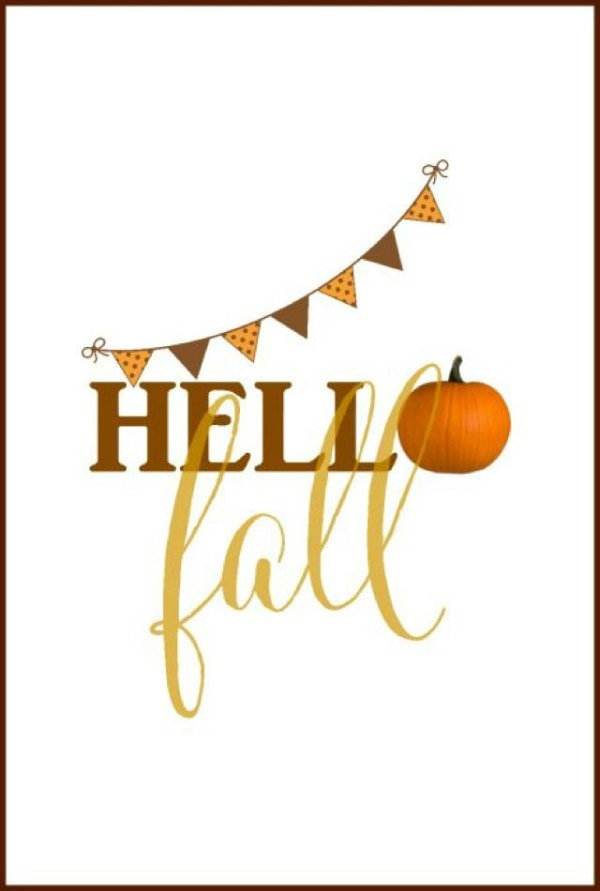 Hello Fall On Sutton Place, 30 Free Fall Printables
