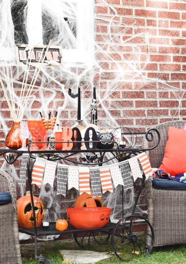 Easy Kid Friendly Halloween Bar Cart