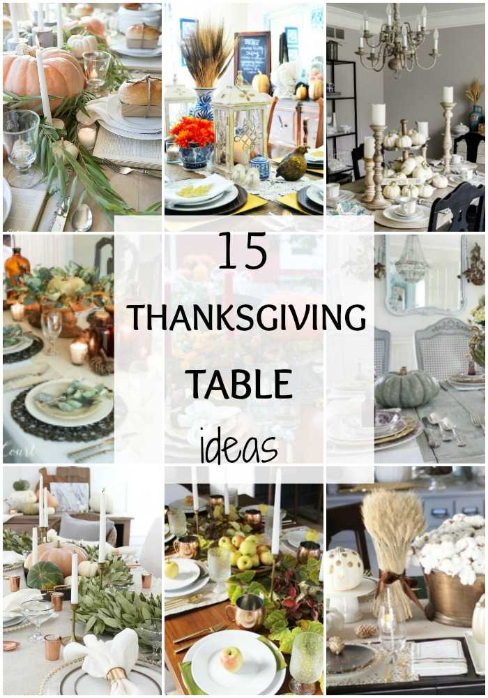 These 15 Gorgeous Thanksgiving Tables have so many different ways you can  make Thanksgiving a happy