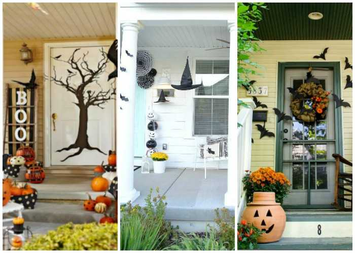 20 Fabulously Spooky Halloween Front Porches