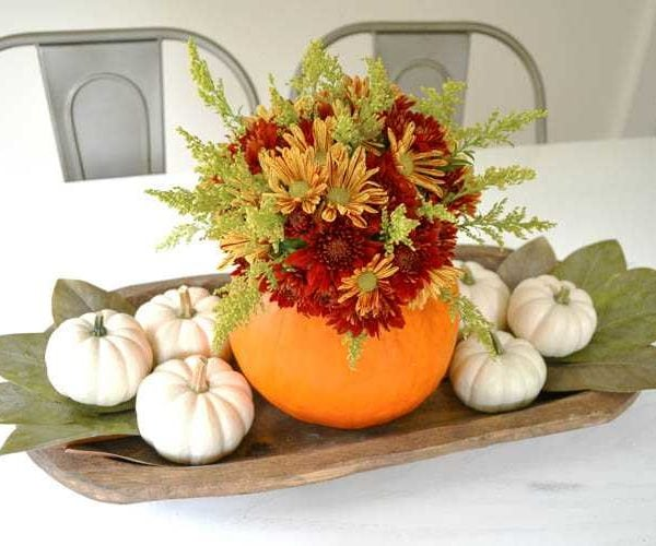 DIY Pumpkin Centerpiece Idea