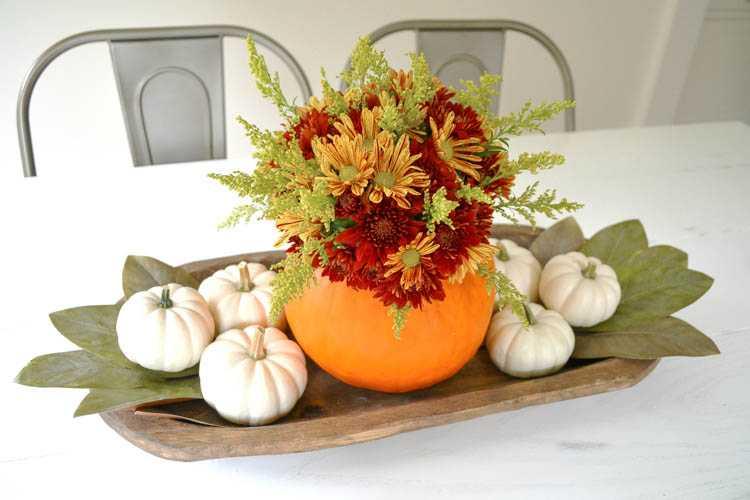 DIY Pumpkin Centerpiece Idea