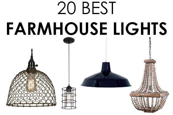 An amazing assortment of farmhouse lights!