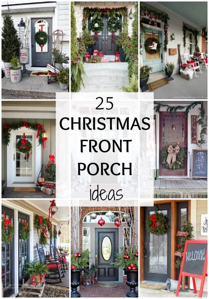 If you are looking for THE BEST ideas for Christmas front porches, then  these are - 25 BEST Christmas Front Porches Ideas For The Holidays