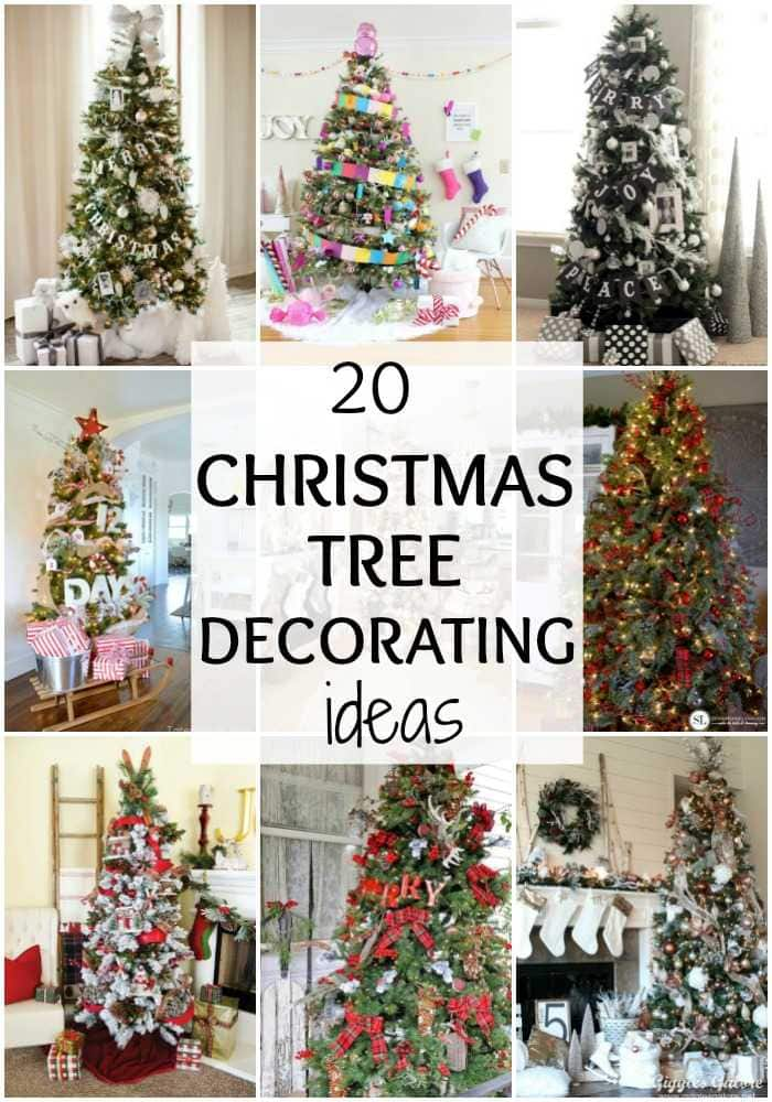 20 Amazing Christmas Tree Decorating Ideas via A Blissful Nest. See more at https://ablissfulnest.com/ #christmasdecorating #christmastree