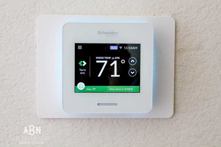 Gain control of your home and energy bill with this amazing thermostat by Wiser. Come see what all the fuss is about and why you NEED this in your home. https://ablissfulnest.com #WiserAir #ad #LifeisOn