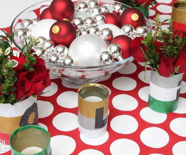 Simple DIY Holiday Table Decor Centerpiece