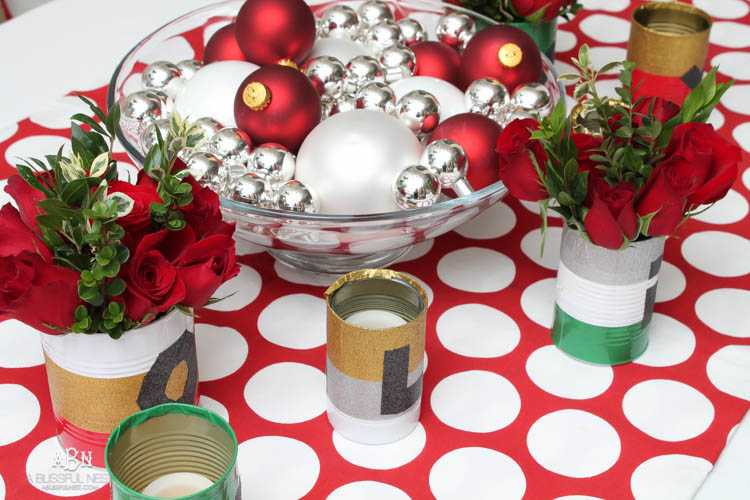 With The Holidays Fast Approaching Create This Simple DIY Holiday Table Decor Using Duck Tape