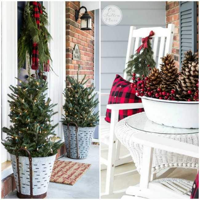 If you are looking for THE BEST ideas for Christmas front porches, then  these are