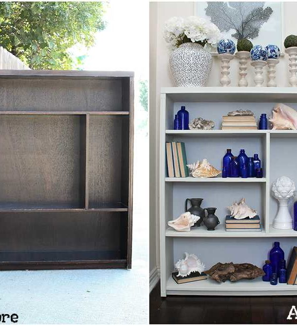 How to Update A Boring Bookcase with This Bookcase Makeover!