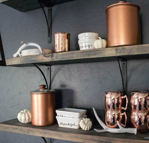 Chic Painted Copper Canisters